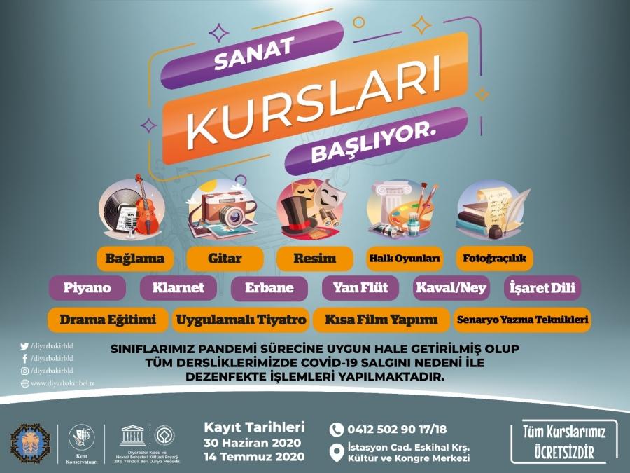 Diyarbakır Büyükşehir Belediyesi 17 dalda kültür sanat kursu açıyor
