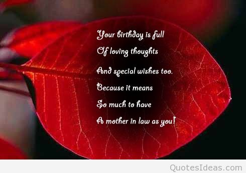 Imágenes De Birthday Quotes For Mother In Law From Son In Law
