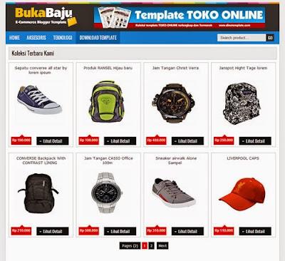 BukaBaju - Template Blog Toko Online