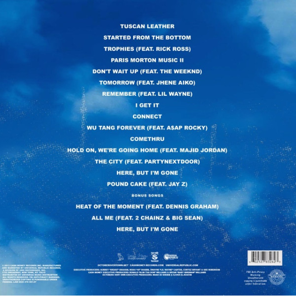 Drake - Nothing Was The Same | Album Art + Tracklist