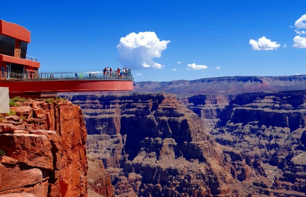 Grand Canyon Skywalk is not in Grand Canyon North Rim but it is in Grand Canyon West