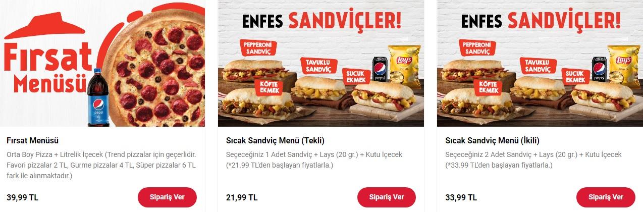 pizza hut kampanyaları fırsat menüsü sandviç kampanyaları   fırsatı 2021 online sipariş