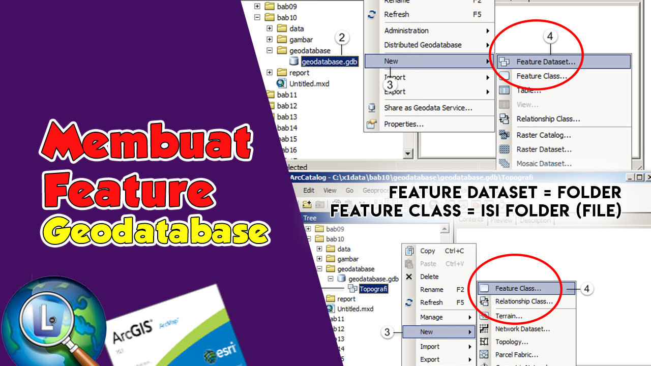 Cara Membuat Feature di Geodatabase Arcgis