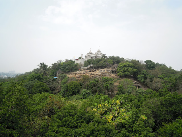 A view of the Khandagiri caves from Udayagiri, Bhubaneshwar