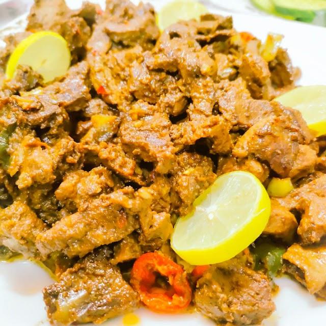تحضير وصفة  الكبدة الكندوز للعيد .