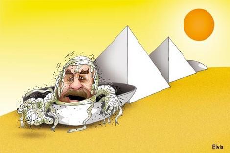 Aquecimento global tá derretendo múmias mais antigas do mundo; será que dessa vez o Sarney vai?!