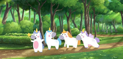Q 17. Felicity, Rainbow, Prudence and Bob, the unicorn friends, are prancing around in the forest. They notice seven bees and five cockroaches, and in the trees they spot eight spiders. There are also three deer and four boars. Behind a bush, they can see a pair of antlers. How many legs do all the numbered beasts combined amount to?