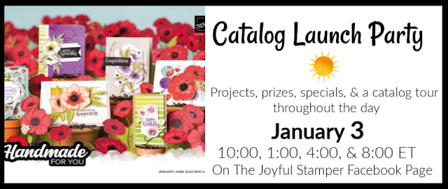 Stampin' Up! Mini and Sale-A-Bration Catalog Launch Party | January 3 | The Joyful Stamper Facebook Page