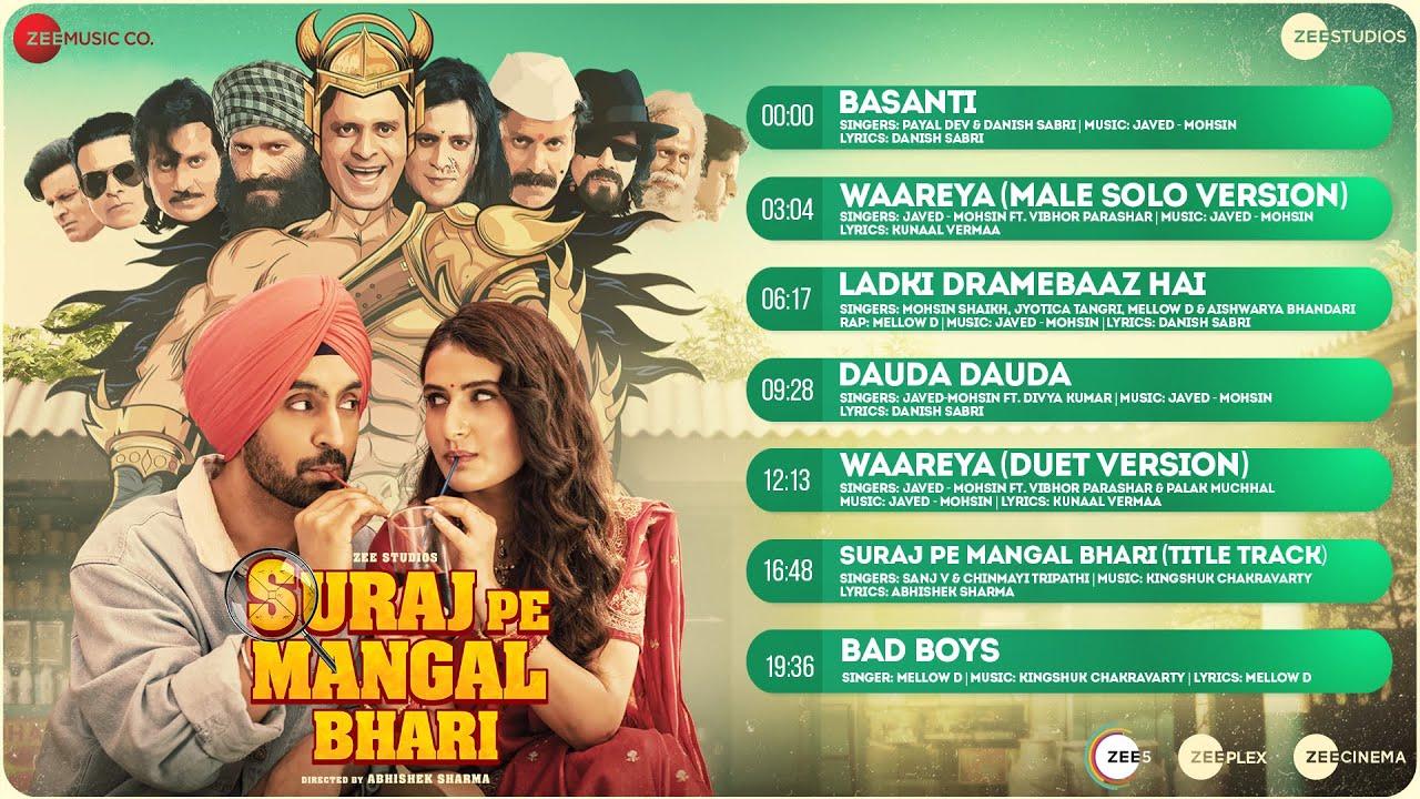 Dauda Dauda Lyrics Suraj Pe Mangal Bhari | Diljit Dosanjh | Divya Kumar x Javed Mohsin