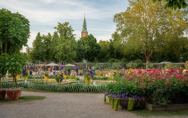 Potret keindahan taman di Denmark