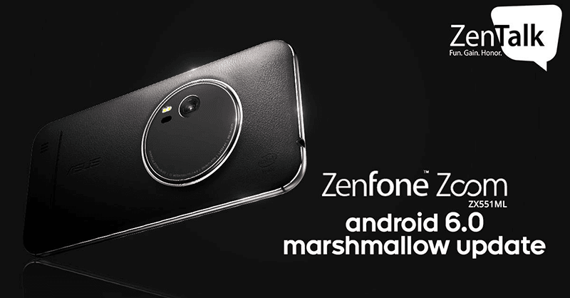 ZenFone Zoom Android 6.0 Marshmallow update