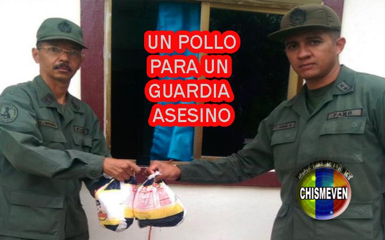 44 Guardias Nacionales condecorados con un kilo de pollo