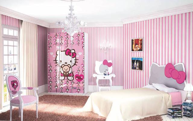 Trang tri phong ngu Hello Kitty dep 04