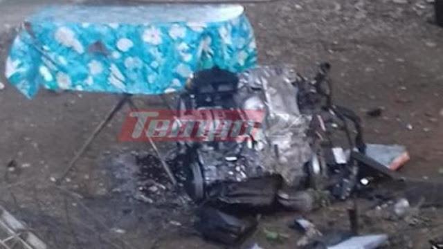"""Απίστευτο τροχαίο: H μηχανή του οχήματος """"προσγειώθηκε"""" μέσα σε αυλή σπιτιού"""