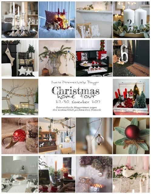 Gartenblog Topfgartenwelt festliche Weihnachtsdekoration in Rot und Weiß + Rezept Flammkuchen: Übersicht alle Blogger Christmas Hometour 2017
