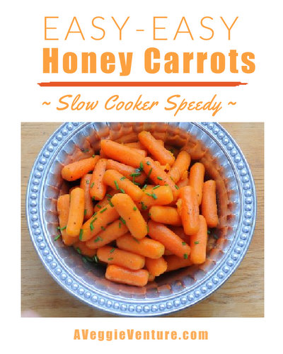 Easy-Easy Slow Cooker Honey Carrots ♥ AVeggieVenture.com, just 5 minutes prep, budget friendly, healthy and kid friendly.