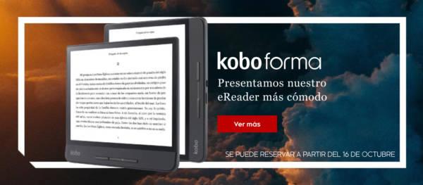wizualizacja czytnika Kobo Forma na hiszpańskim Twitterze Kobo