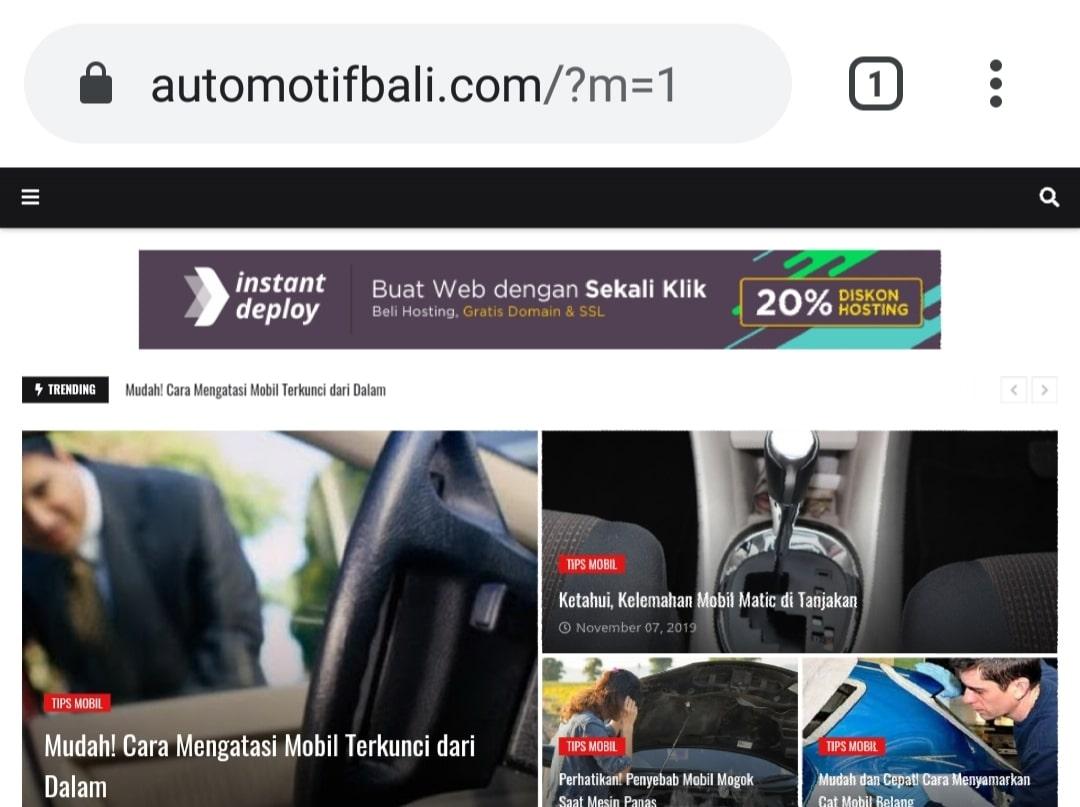 Website Blog Automotif Bali By Bayu-Media Web & Ads