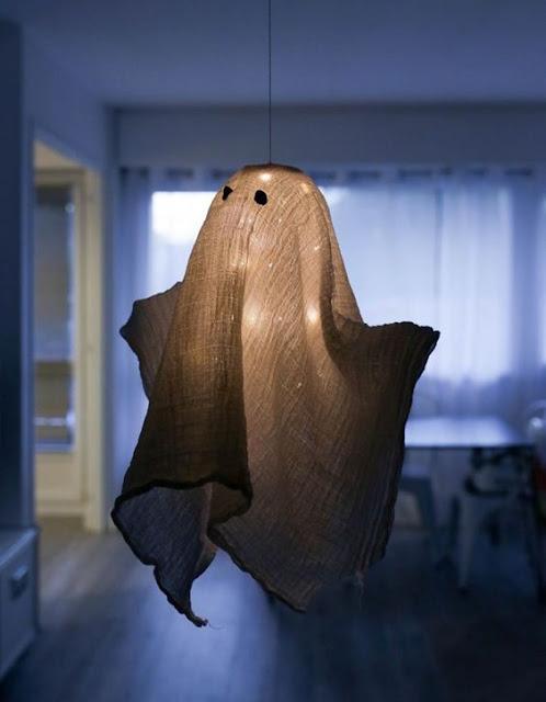 Fantôme lumière Halloween suspendu décorations
