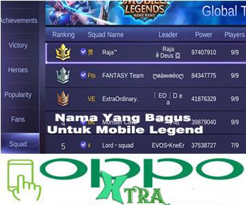 Nama Yang Bagus Untuk Mobile Legend