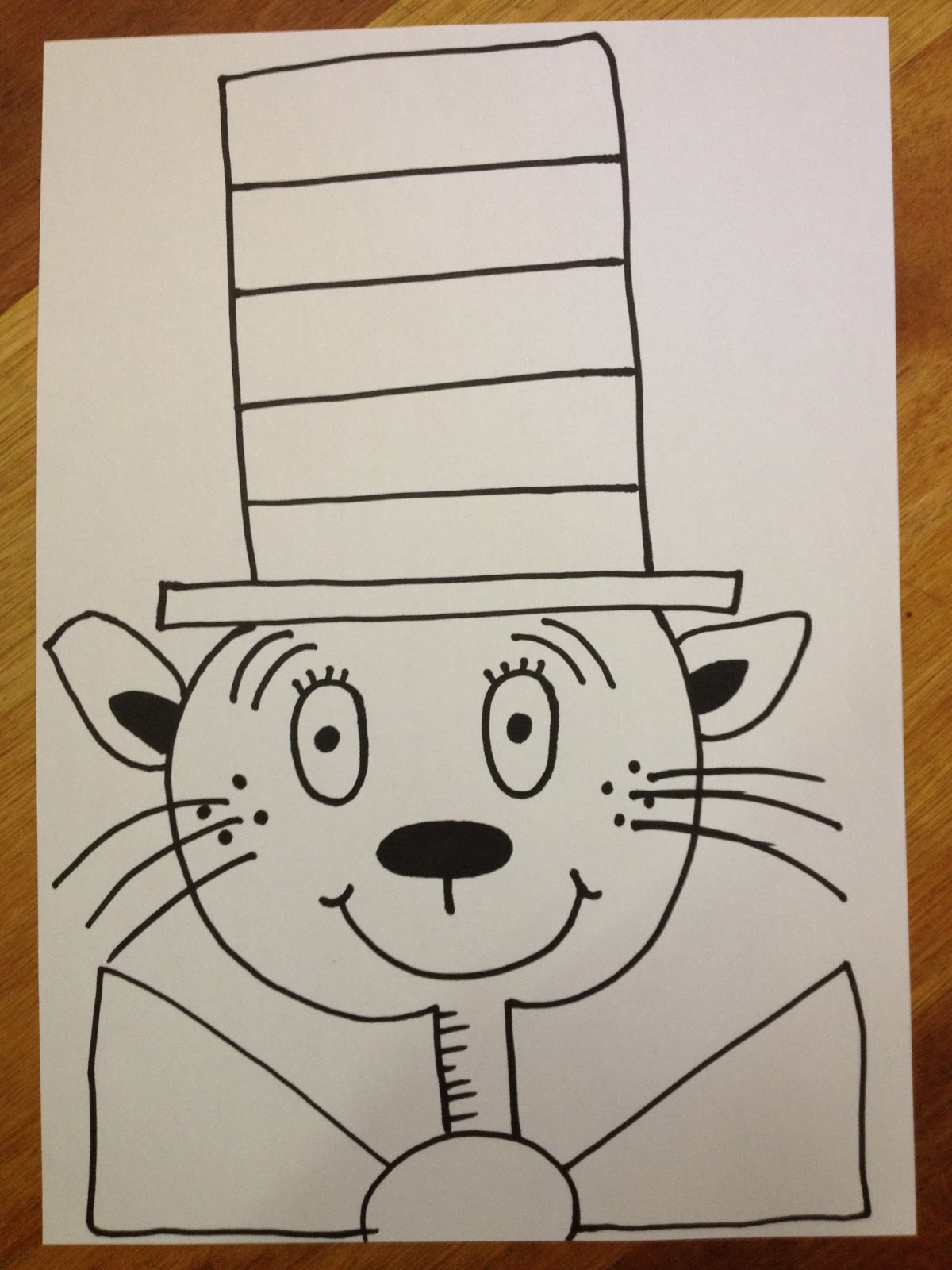 It's just a photo of Hilaire Drawing Cat In The Hat