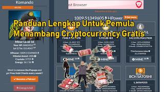 Panduan Cara Mendapatkan Uang dari hasil Menambang Cryptocurrency Gratis Untuk Pemula di CryptoMiningGame