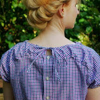 Upcycling Bluse Herzstueck