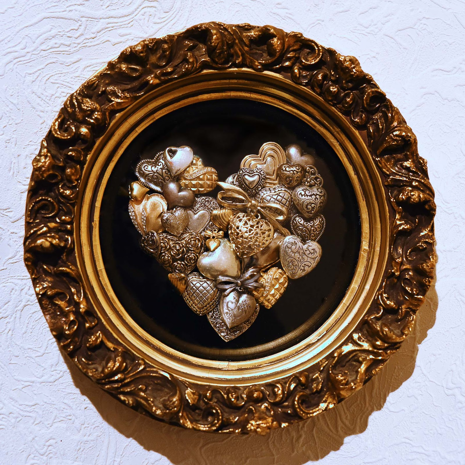 Silver and Gold Heart Project by Jeanne Selep