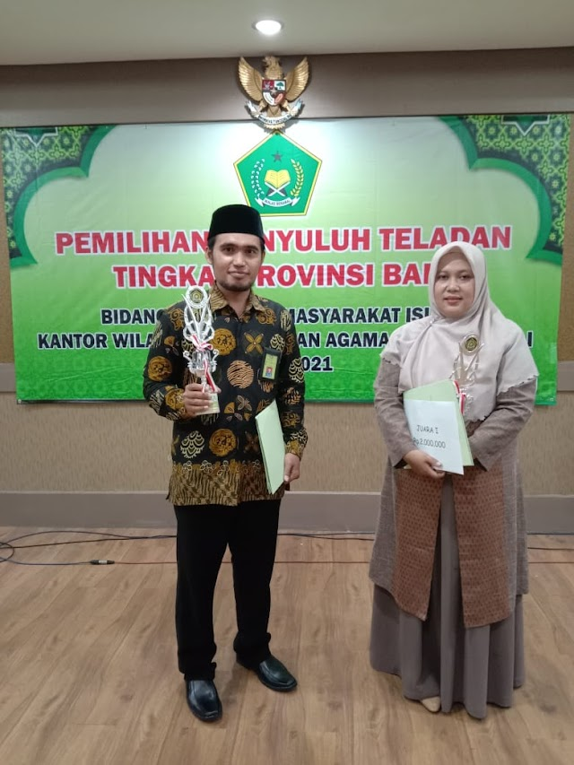 Pengurus Pergunu Buleleng Sabet Peringkat III Terbaik Penyuluh Teladan Agama Islam Non PNS Se Provinsi Bali