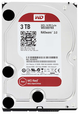 "WD Red - Disco duro para dispositivos NAS de sobremesa de 3 TB (Intellipower, SATA a 6 Gb/s, 64 MB de caché, 3,5"")"