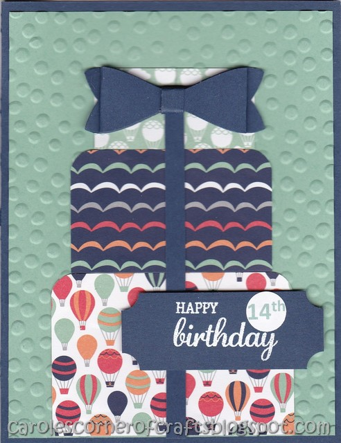 I Was In Need Of Making 14 Year Old Birthday Cards For My Grandkids And Great Nieces Nephews So Chose This Simple Card Off Pinterest