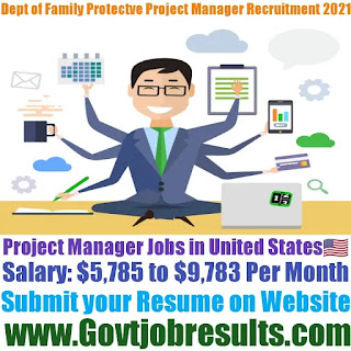 Dept of Family and Protective Service Project Manager Recruitment 2021-22