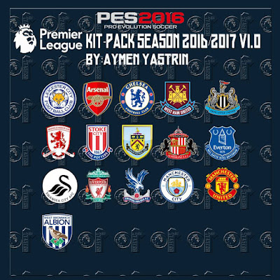PES 2016 Premier Leauge 2017 Kit-Pack V1.0 by YastRin