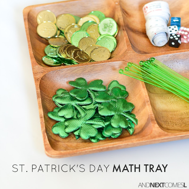 St. Patrick's Day themed math activity for kids from And Next Comes L