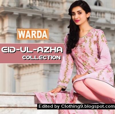 458753ab0 Warda Lawn Midsummer Embroidered Eid Ul Adha Dresses 2015-16 ...