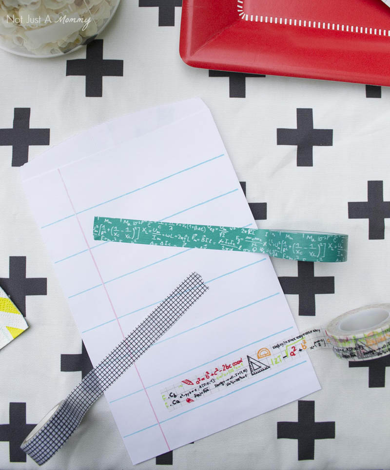 Not your typical must haves for your back to school party; math and science washi tape