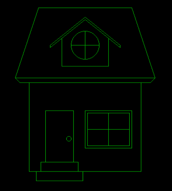 draw a house in c graphics,draw a house in computer graphics,draw a hut in c graphics,draw a hut in computer graphics