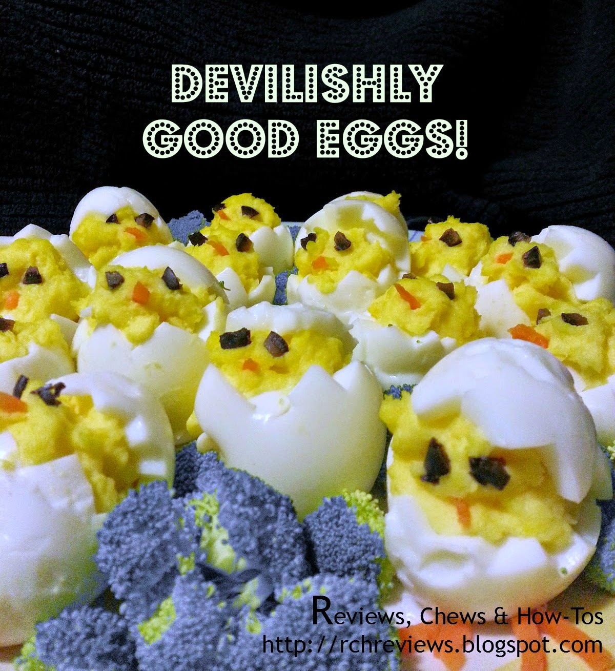 Devilish Good Easter Eggs by Reviews, Chews, & How-Tos