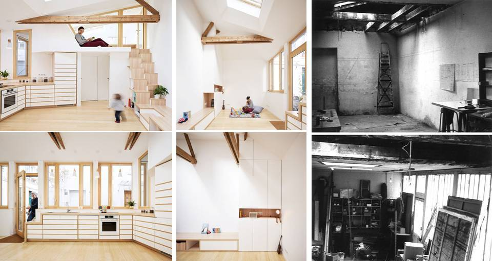 000 This 1970s Studio Was Transformed Into A Bright And Open Small Home (Before & After) Interior