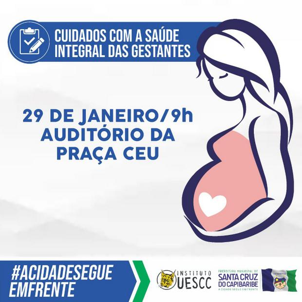 Ação voltada para a saúde integral das gestantes será realizada em Santa Cruz do Capibaribe