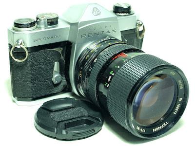 Asahi Pentax Spotmatic SP (Chrome) Body #345, Tefnon 35-70mm F2.5~3.5 Macro Zoom Lens #875