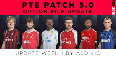 PES 2018 PTE Patch 2018 5.0 Option File Week 1 by VapidChainz