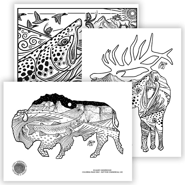 CASEY UNDERWOOD ART - Coloring Pages for the Kids...and You