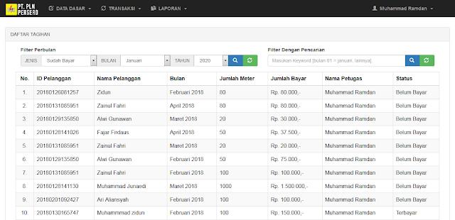 PHP Agen Pembayaran Listrik PLN Berbasis Web