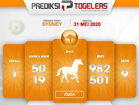 Prediksi Togel Sydney Minggu 31 Mei 2020 - Prediksi Togelers