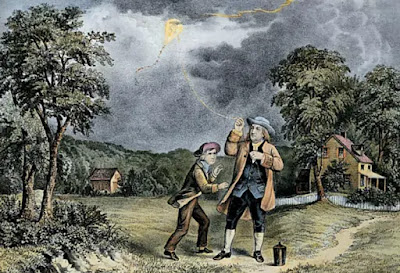 Benjamin Franklin's kite experiment