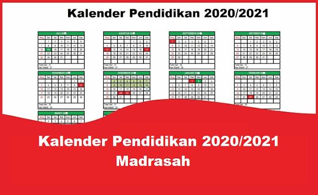Kalender Pendidikan 2020/2021 Madrasah