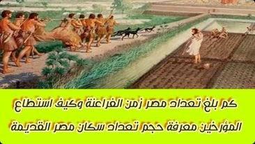 أسرار الفراعنة | كم بلغ تعداد مصر زمن الفراعنة وكيف استطاع المؤرخين معرفة حجم تعداد سكان مصر القديمة
