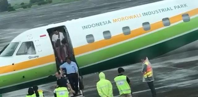 Viral, Video Pesawat Indonesia Morowali Selalu Angkut WNA China
