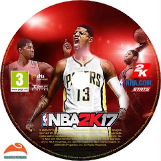 NBA 2K17 DISC LABEL